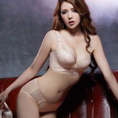 Maiden Manor - Lace Trim Bra / Set: Lace Trim Bra + Panties