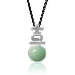 ZN Concept - Amazonite Pendant with Silk Cord