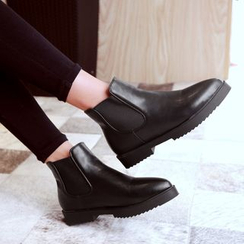 JY Shoes - Pointy Short Boots