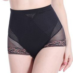 Dayuni - Mesh High-Waist Shaping Panties
