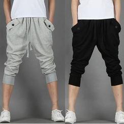 Fireon - Plain Capri Harem Pants