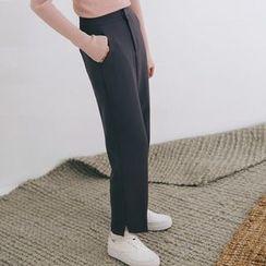SUYISODA - Slit Straight Pants