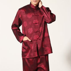 Golden Flowers - Chinese Style Set: Jacket + Pants