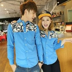 Lovebirds - Couple Printed Shirt