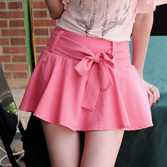 JVL - Ruffled High-Waist Skort