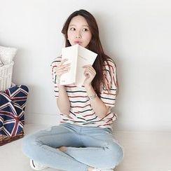 Stylementor - Short-Sleeve Striped T-Shirt