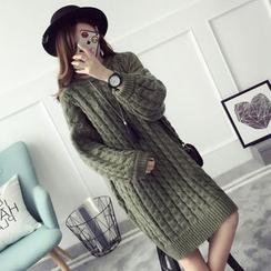 芙苪FR - 麻花針織連衣裙