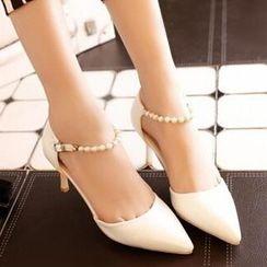 Tomma - 仿珍珠有跟涼鞋