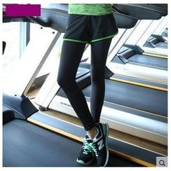 AUM - Piped Inset Shorts Leggings