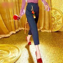 妖精的口袋 - 条纹长裤
