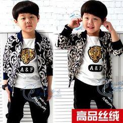 三零九班 - 小童套裝: 拉鍊外套 + 運動褲