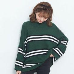BAIMOMO - 條紋毛衣