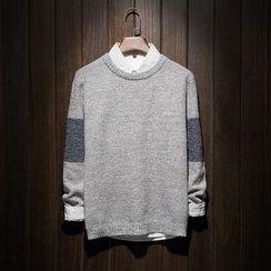 Riverland - Colour Block Knit Top