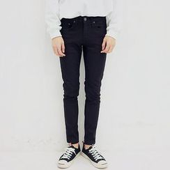 Seoul Homme - Straight-Cut Cotton Blend Pants