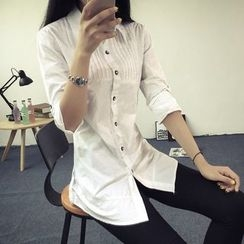 Heybabe - Pintuck Long Shirt