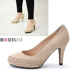 MODELSIS - Cross Pattern Platform Pumps