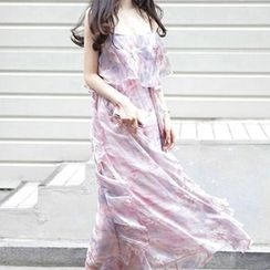 Fashion Street - Floral Print Chiffon Sundress