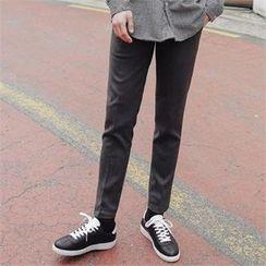 STYLEMAN - Band-Waist Flat-Front Pants