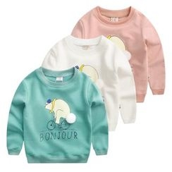 lalalove - Kids Cartoon Print Pullover