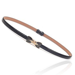 Yist! - Faux Patent Leather Slim Belt