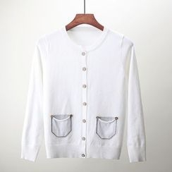 Moritale - Pocket-Accent Buttoned Knit Cardigan