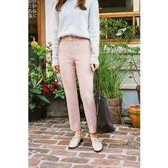 CHERRYKOKO - Welt-Pocket Tapered Dress Pants