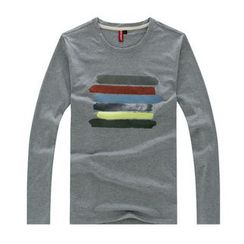 Porspor - Long-Sleeve Print T-Shirt