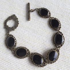 MyLittleThing - Vintage Style Copper Bracelet (Black)