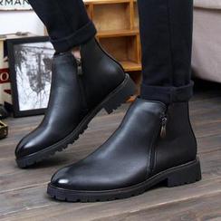 Hipsteria - 英伦尖头拉链短靴