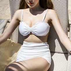 Roseate - Plain 2-piece Swimsuit
