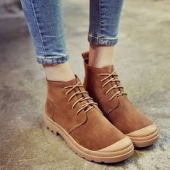 Laceuplux - Lace-Up Ankle Boots