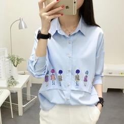 SimplyMe - 七分袖印花衬衫