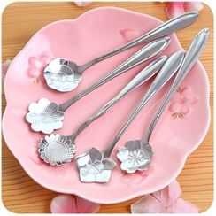 Momoi - Stainless Steel Floral Spoon