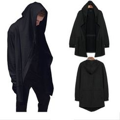 Free Shop - Long Hooded Jacket