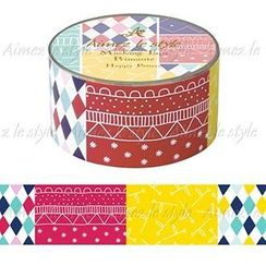 Aimez le style - Aimez le style Masking Tape Middle Happy Pattern