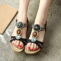 Pangmama - Jeweled Flat Sandals