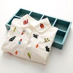 Seashells Kids - Kids Embroidered Long-Sleeve Shirt
