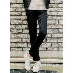 JOGUNSHOP - Flat-Front Straight-Cut Pants