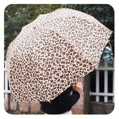 默默愛 - 豹紋折疊雨傘