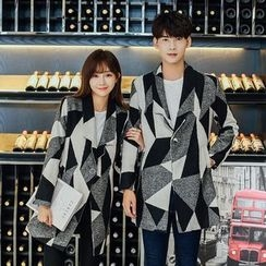 CASSY - Single-Button Couple Matching Coat
