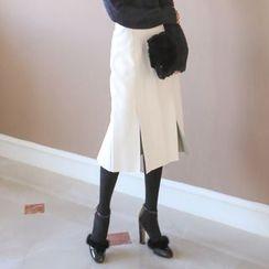 PPGIRL - Slit-Side Midi Skirt
