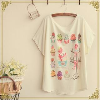Fairyland - Cupcake Print T-Shirt