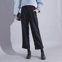 Sonne - Loose-Fit Cropped Wool Pants
