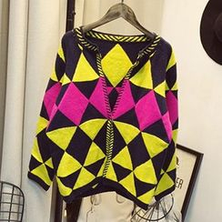 Polaris - Geometric Pattern Cardigan