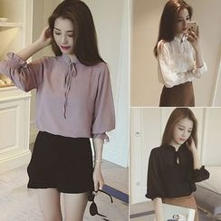 Honey Diary - Set: Chiffon Blouse + Camisole