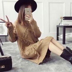 芙苪FR - 流苏毛衣裙