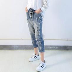 Ranche - Distressed Capri Jeans