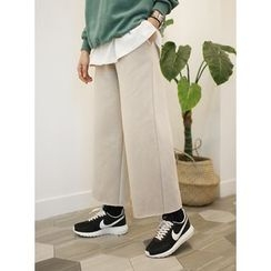 STYLEBYYAM - Band-Waist Wide-Leg Sweatpants