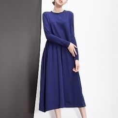 Halona - Long-Sleeve Midi Dress