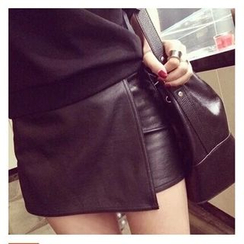 QZ Lady - Faux Leather Skort